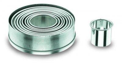 Набір форм для торта Lacor з нержавіючої сталі Ø4/5/6/7/8/9/10/11х4.2см (68069)
