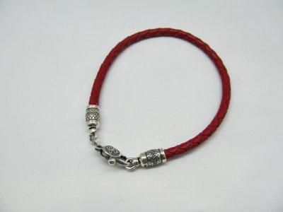 Кожаный шнурок на руку SilverArtisan 1.71105 размер 17