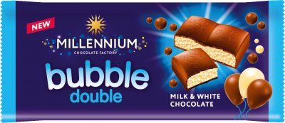 Упаковка белого и молочного пористого шоколада Millennium 70 г х 20 шт (4820075507442)