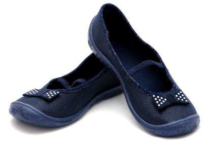 Модні текстильні балетки для дівчинки f mb 4A1/10 синього кольору