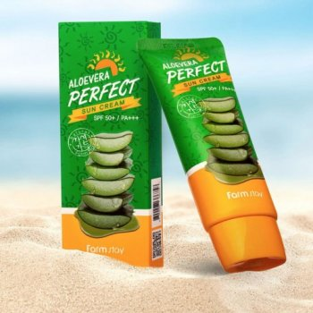 Солнцезащитное средство Farmstay Aloevera Perfect Sun Cream SPF50+ PA+++ (SW0000446)
