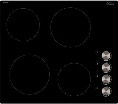 Варочная поверхность электрическая Luxor RM 640 SBE + фирменная прихватка в подарок черный, нержавеющая сталь, прочие цвета