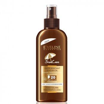 Солнцезащитное водостойкое масло Eveline Sun Care SPF 20 с маслом аргана 150 мл (5907609376350)