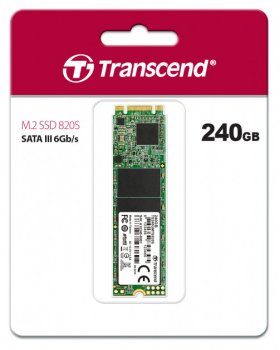 Твердотільний диск SSD M. 2 240GB Transcend MTS820S SATAIII 3D TLC (TS240GMTS820S)