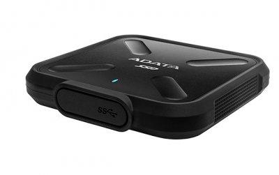 Портативний SSD A-DATA SD700 256GB Portable USB 3.2 Gen1 3D NAND TLC Black (ASD700-256GU31-CBK)