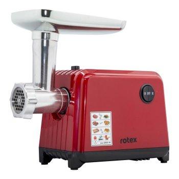 М'ясорубка електрична ROTEX RMG201-T 2000 Вт з соковижималкою реверс шнек алюміній Червона