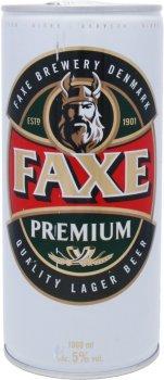 Пиво Faxe Premium светлое фильтрованное 5% 1 л (5741000895009_5741000107829)
