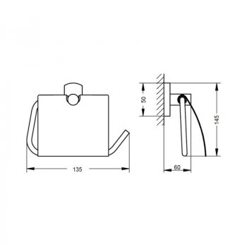 Тримач для туалетного паперу Q-tap Liberty 1151 ANT