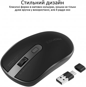 Миша Promate Suave-2 Wireless Black (suave-2.black)