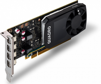 PNY PCI-Ex NVIDIA Quadro P1000V2 4GB GDDR5 (128bit) (1265/5001) (4 x miniDisplayPort) (VCQP1000V2-SB)
