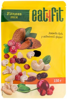 Упаковка горіхово-ягідного міксу Eat4fit Fitness mix 150 г х 2 шт. (30076)