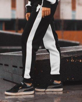 Спортивные штаны Billie Eilish черно-белые