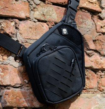 Тактическая сумка для скрытого ношения Scout Tactical EDC ambidexter bag black + органайзер и кобура в комплекте