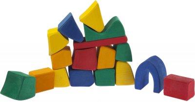 Конструктор Nic деревянный Большой цветной 17 элементов (Nic523287)