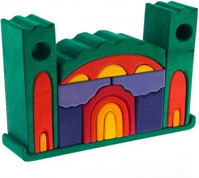 Конструктор Nic деревянный Все в замке Зеленый (Nic523269)