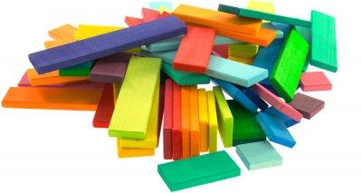 Конструктор Nic деревянный Строительные пластины 64 элемента (Nic523302)