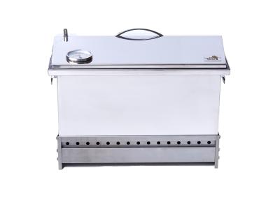 Коптильні гарячого копчення нержавіюча сталь з термометром і підставкою (520x300x310)