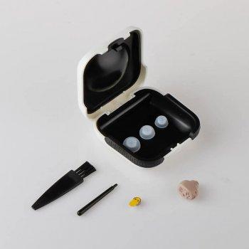 Універсальний слуховий апарат Medica-Plus sound control 11.0 Внутрішньовушний підсилювач слуху з регулятором гучності Original Бежевий