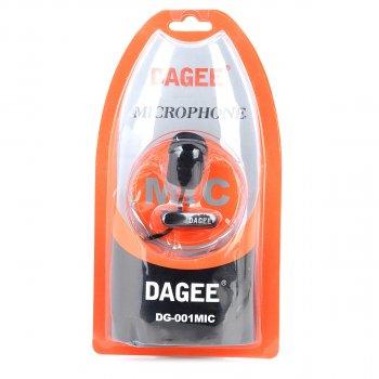 Петличний мікрофон (петличка) для комп'ютера / ноутбука / камери Dagee DG-001, шнур тканина (480431)