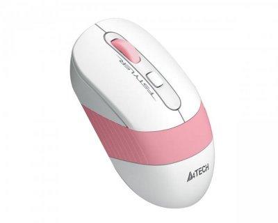 Миша бездротова A4Tech FG10 Pink/White USB