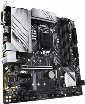 Мат. плата MB GigaByte Z390 M (iZ390/s1151/4xDDR4 4266(OC)Мгц/1xPCIe x16/1xPCIe x16(x4)/2xPCIe x1/2x M. 2 port/6xSATA3/Raid 0,1,5,10/Glan/1xUSB3.1 Type-C/3xUSB3.1/HDMI, DVI, DP/Audio 7.1 ch/mATX)