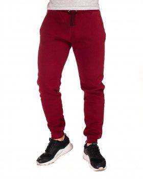 Теплі чоловічі спортивні штани на флісі WB бордові