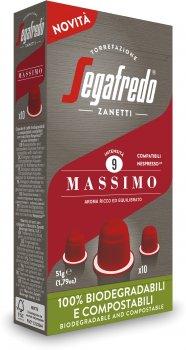 Кофе в биоразлагаемых капсулах Segafredo Massimo Nespresso 10 шт x 5.1 г (8003410243373)