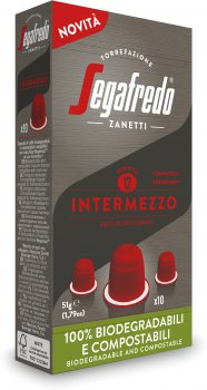 Кава у біорозкладаних капсулах Segafredo Intermezzo Nespresso 10 шт. x 5.1 г (8003410243526)