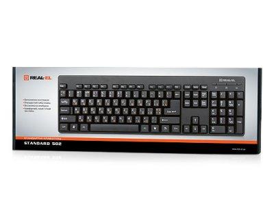 Клавіатура REAL-EL Standard 502 USB чорна
