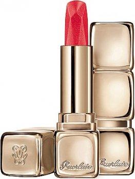 Помада для губ с сатиновым эффектом Guerlain KissKiss Satin Effect Diamond Lipstick 521 - Red Jewel (3346470429918)