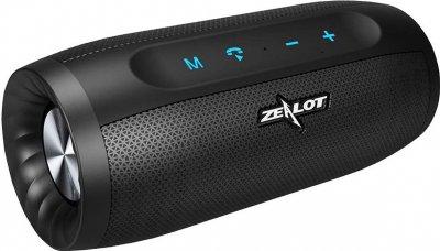 Портативна колонка ZEALOT S16 Black 10W Bluetooth 4.2 бездротова Hi-Fi звук 4000 mAh стерео (BZ-3939-11316)