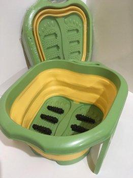Массажер ванна для ног Foot Bath Massager FB-00082 роликовая массажная ванночка Зеленая