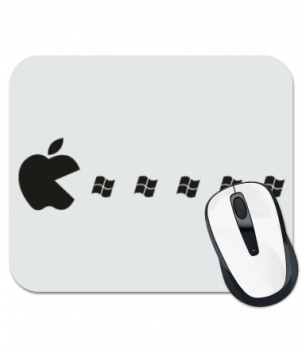 Коврик для мыши Эпл (яблоко) pacman
