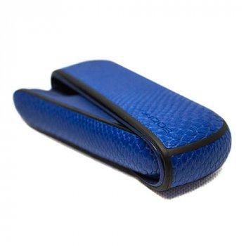 Чохол IQOS 3/3 DUO SNAKE SKIN + бічна панель BLUE