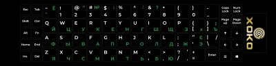 Наклейка на клавиатуру XoKo 68 клавиш Украинский / Английский / Русский (XK-KB-STCK-MD)