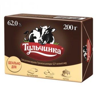 Суміш рослинно-вершкова шоколадна 62%ТМ Тульчинка брикет 200 г