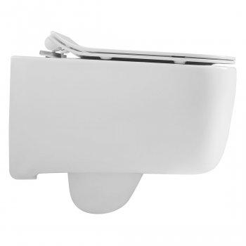Унітаз підвісний VOLLE Hippo Rimless 13-44-202 із сидінням Slim Soft Close