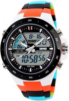 Чоловічий годинник Skmei 1016BOXCMOG Orange Strap BOX