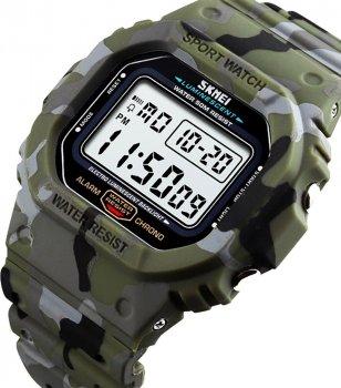 Чоловічий годинник Skmei 1471BOXGC Green Camouflage BOX