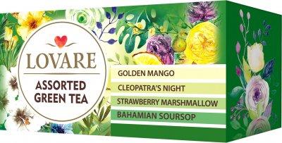 Упаковка чая Lovare зеленого Ассорти 2 пачки 4 вида по 6 пакетиков (2000006781130)