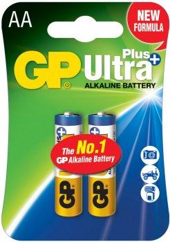 Щелочные батарейки GP Ultra Plus Alkaline AA 1.5V 15AUP-U2 LR6 2 шт (4891199100246)
