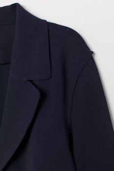 Пальто H&M 7462689 Темно-синее