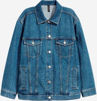 Джинсовая куртка H&M 2112-7861701 Синяя