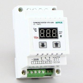 Терморегулятор для високих температур одноканальний на DIN-рейку Укрреле РОТІ-10/D-Pt