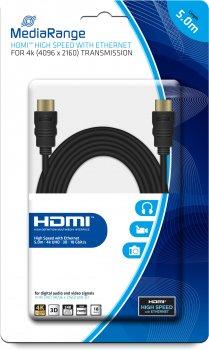 Кабель MediaRange HDMI 2.0 с Ethernet 5 м (MRCS158)