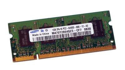Оперативна пам'ять Samsung SODIMM DDR2-800 1024MB PC-6400 (M470T2864EH3-CF7)