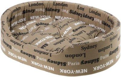 Лежак для собак і кішок Ferplast Dandy BROWN CITIES C 45 45х35х13 Коричневий (82941096)