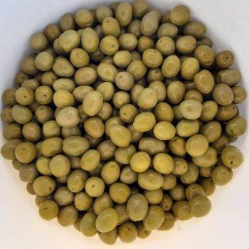 Оливки зелені Kalimera Aмфіса з легкою кислинкою з кісточкою 121-140, 560 г