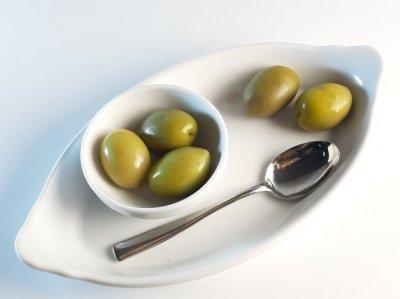 Оливки Kalimera Зелені Халкідікі Atlas 70-90, зелена оливка з легкою кислинкою з кісточкою, 560 г