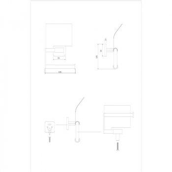 Тримач для туалетного паперу GF квадратний з кришкою